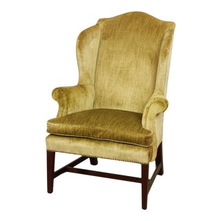 Virginia Craftsmen Reproductions Vintage Chippendale Style Wing Chair For Sale