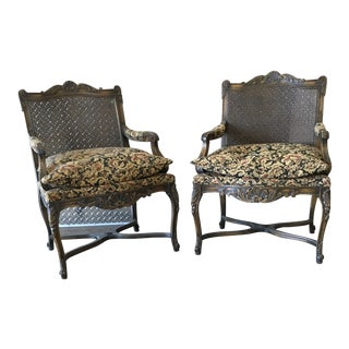 Louis XV Carved Chairs - a Pair For Sale