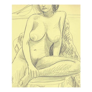 1970s Seated Female Nude by James Bone For Sale