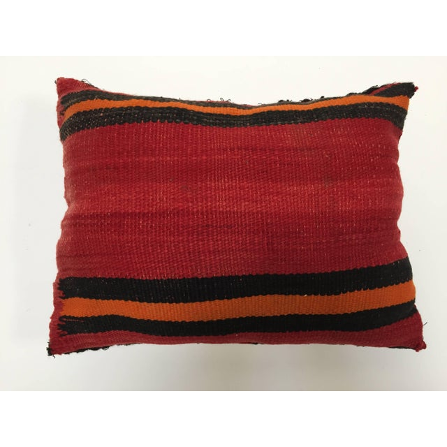 Textile Moroccan Berber Handwoven Tribal Vintage Pillow For Sale - Image 7 of 9