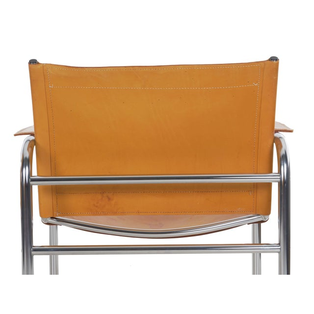 """Chrome Circa 1970s Vintage Chrome and Leather """"Klint"""" Arm Chairs by Tord Bjorklund - a Pair For Sale - Image 8 of 13"""