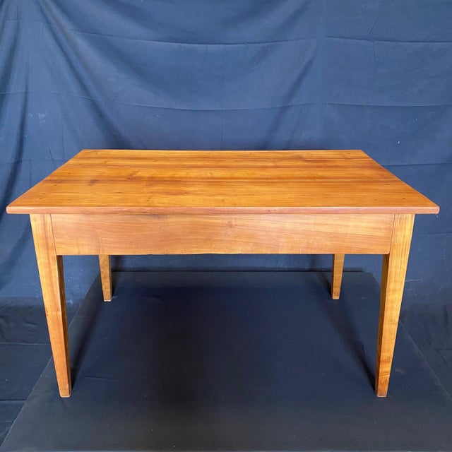 Late 19th Century French 19th Century Natural Pine Desk For Sale - Image 5 of 11