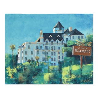 'Spring at the Chateau Marmont'' Original Artwork by Kathleen Keifer For Sale