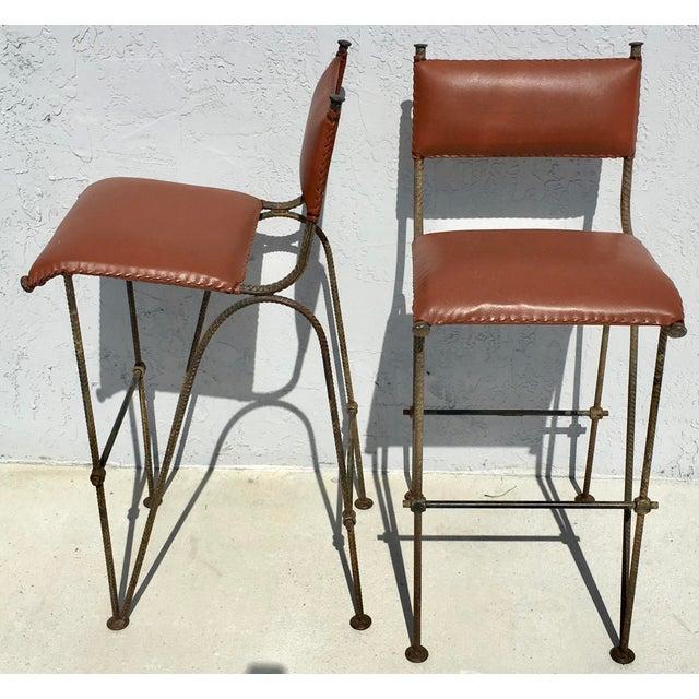 Ilana Goor Style Bar Stools - A Pair - Image 3 of 7