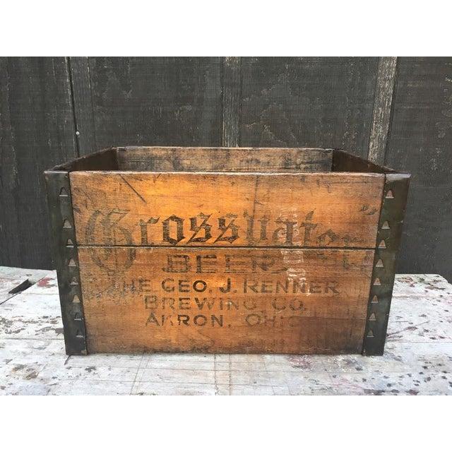 Metal Grossvater Beer Crate - 1920s For Sale - Image 7 of 9