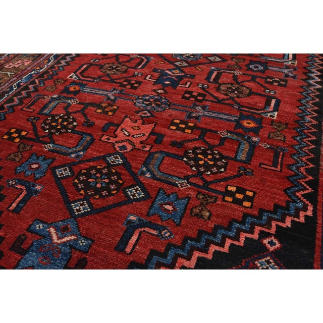 Vintage Persian Hamadan Runner - 4'2'' X 10' For Sale - Image 4 of 13