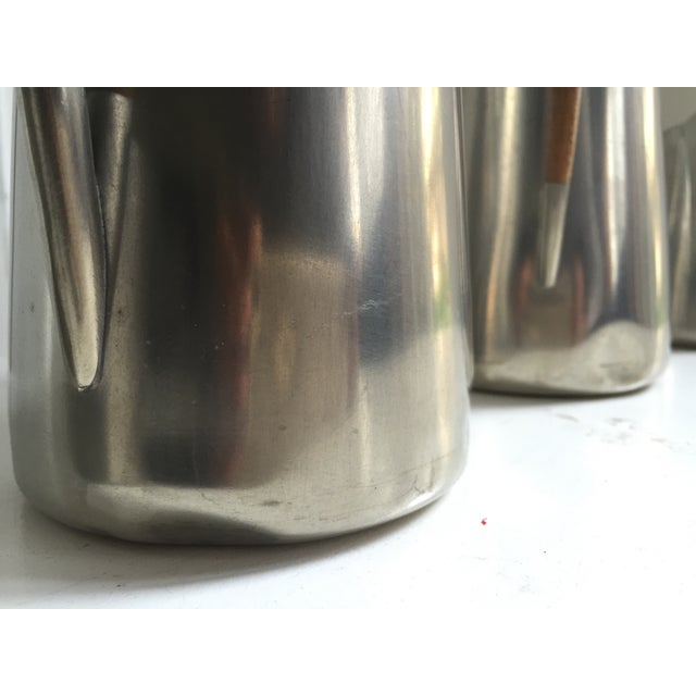 Danish Modern Royal Holland Pewter & Teak Coffee / Tea Set For Sale - Image 3 of 6