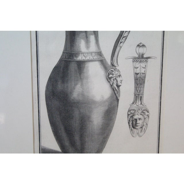 Early 18th Century Early 18th Century Antique Urns and Vases of Ancient Times Engraving Print For Sale - Image 5 of 7