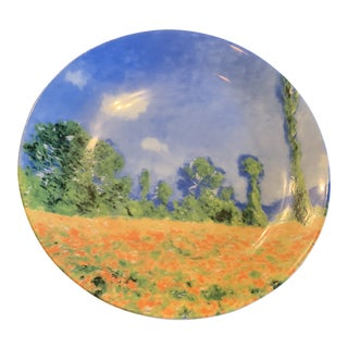 French Hand Painted Landscape Plate For Sale