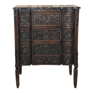 19th Century French Marble Top Louis XVI Commode For Sale