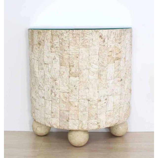 Crushed Rock Tile Console Table with Mirror For Sale In New York - Image 6 of 9