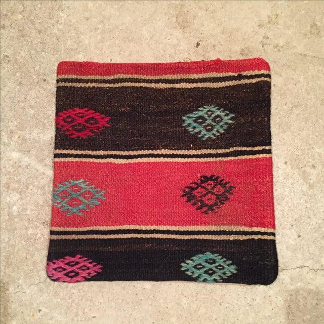 Vintage Striped Kilim Pillow - Image 2 of 5
