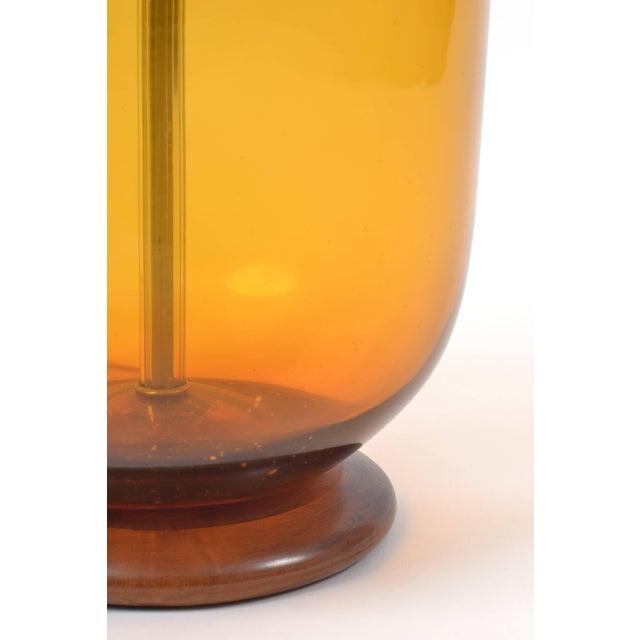 Blenko Blown Glass Lamp Designed by Don Shepherd For Sale - Image 9 of 10