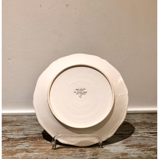 Late 20th Century Trompe l'Oeil Walnut Plate, France For Sale - Image 5 of 7
