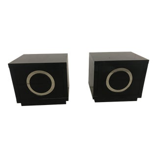 Faux Skin Side Tables - A Pair