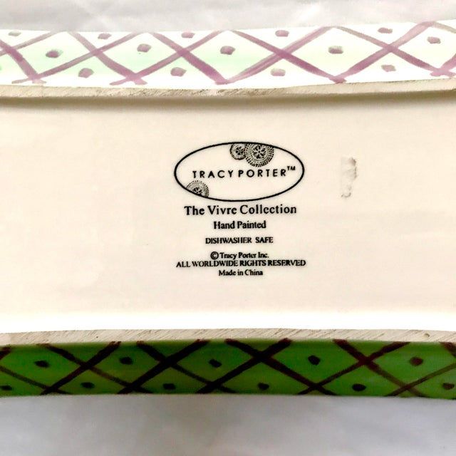 Tracy Porter Hand Painted Vivre Collection Tray | Chairish