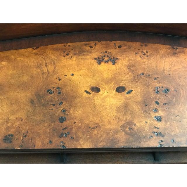 Burled Wood Lift Top Secretary Desk - Image 7 of 10