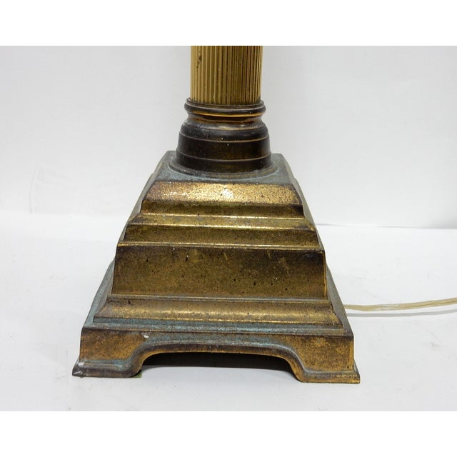 Speer Brass Floor Lamps With Harp - A Pair - Image 8 of 10
