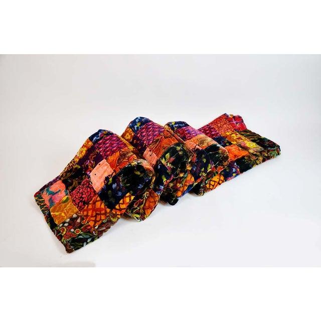 Vintage Boho Quilted Velvet Bedspread - Image 2 of 10