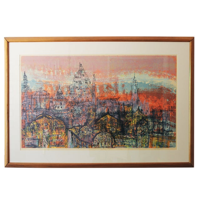 Mid-Century Serigraph by Dorothy Bowman For Sale
