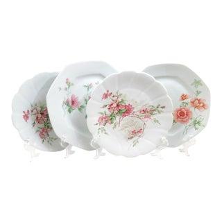 Mismatched Limoges Fine China Dinner Plates - Set of 4
