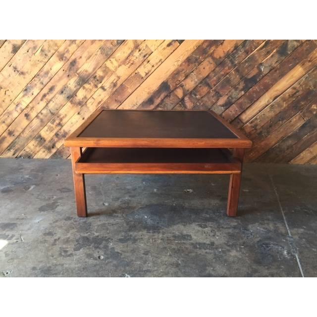 Mid Century Walnut Brown Saltman Coffee Table - Image 3 of 7