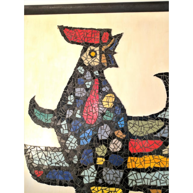 Large Mosaic Rooster Wall Art For Sale - Image 4 of 11