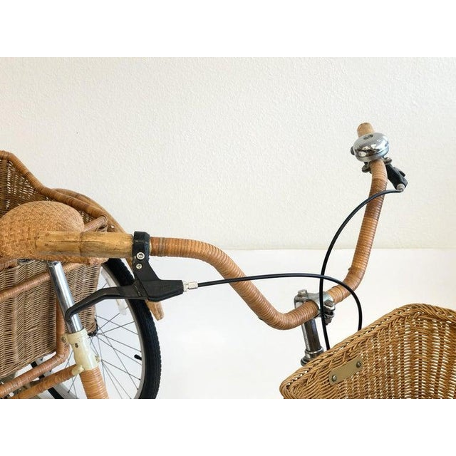Wicker and Bamboo Tricycle For Sale - Image 11 of 12