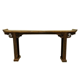 19th Century Asian Yew Wood Alter Table For Sale