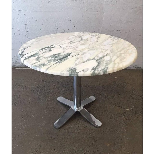 1970s Nicos Zographos Marble Top Table For Sale - Image 5 of 5