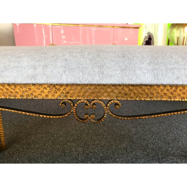 Bench Iron Gold Leaf by Pier Luigi Colli, Italy, 1950s For Sale - Image 6 of 12