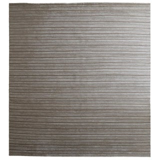 Hand-Knotted Bamboo Silk Rug - 9′11″ × 13′9″ For Sale
