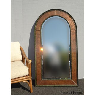 "54""h Vintage Eglomise Wall Mantle Arched Mirror by Theodore Alexander Preview"