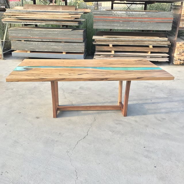 Wood & Resin River Table For Sale - Image 4 of 11