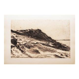 """1959 Jean-François Millet, Boho Chic Lithograph """"Seaside at Greville"""" For Sale"""