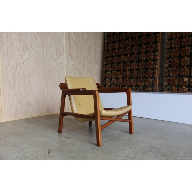 """Animal Skin MId Century Tove & Edvard Kindt Larsen """"Fireplace"""" Chair For Sale - Image 7 of 8"""
