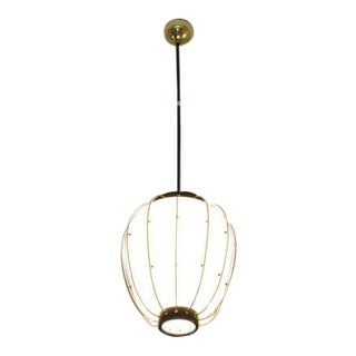1960s Italian Mid-Century Brass Pendant by Angelo Lelli for Arredoluce For Sale
