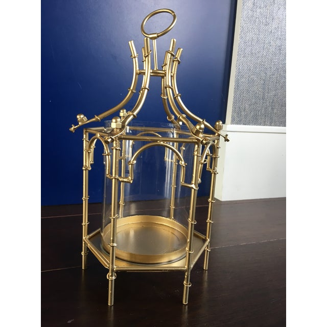 Gold Gold Finish Pagoda Lantern For Sale - Image 8 of 11