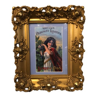 Custom Framed Syrup of Figs Laxative Artwork
