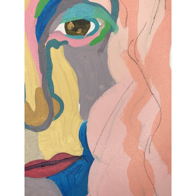 """Contemporary Abstract Portrait Painting """"Don't Let Her Get Away"""" - Framed For Sale In Detroit - Image 6 of 9"""