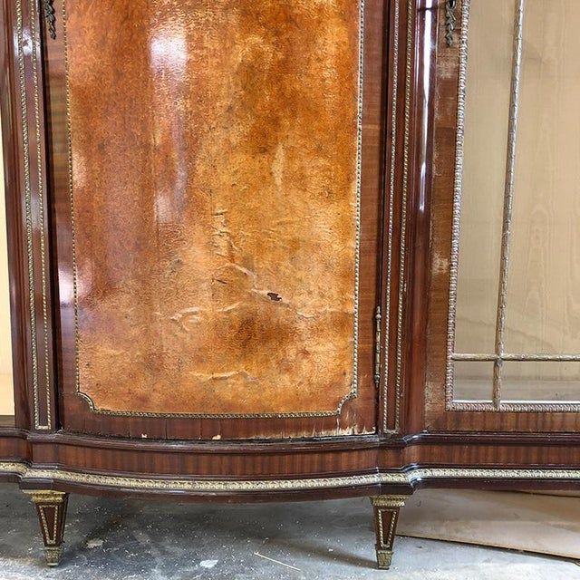 Mid 18th Century 1700s Regency Louis XVI Style Burlwood Cabinet 18th Century France For Sale - Image 5 of 12