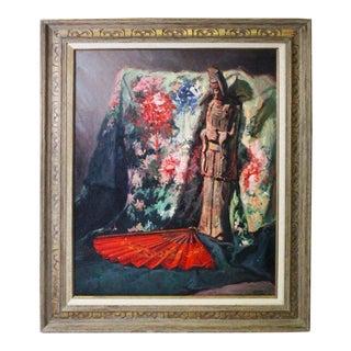Caddell Japanese Scene Painting For Sale