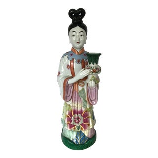Gump's of San Francisco Vintage Oriental Candle Holder