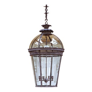 Jamb Vintage Exterior Glass Lantern For Sale