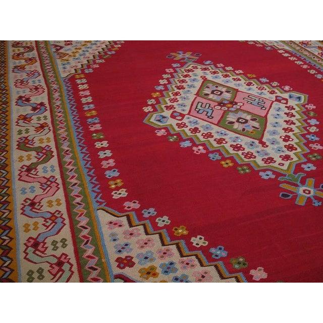 Islamic Fantastic Antique Oushak Kilim For Sale - Image 3 of 10