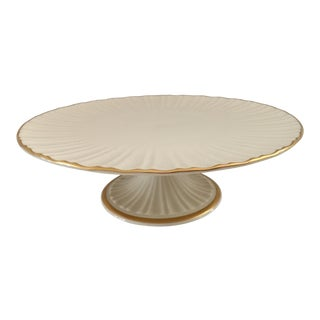 Lenox Plaza Collection Footed Cake Plate For Sale