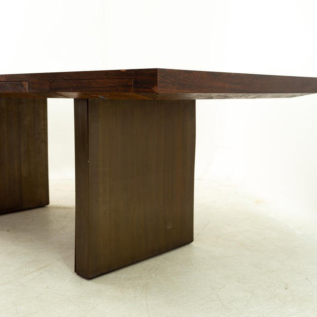 1960s Edward Wormley for Dunbar Mid Century Rosewood and Bronze Executive Desk For Sale - Image 5 of 10