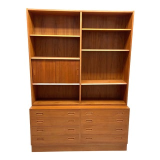1970's Danish Modern Bookshelf For Sale