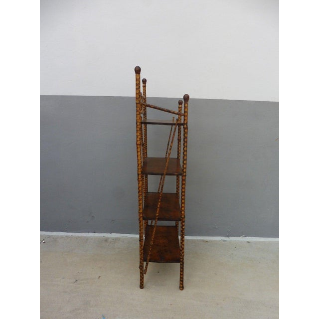 Traditional 19th Century Victorian 4 Tier Bamboo Etagere For Sale - Image 3 of 10