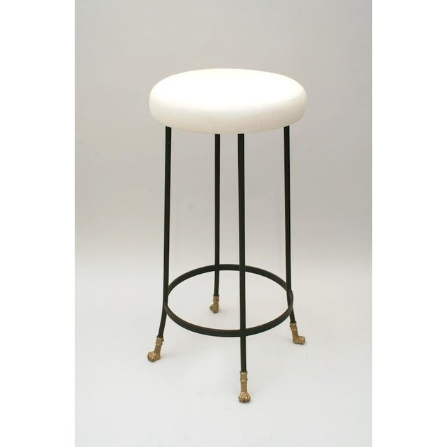Bronze Cast Bronze and Black Iron Barstool (Bar Height) For Sale - Image 7 of 7